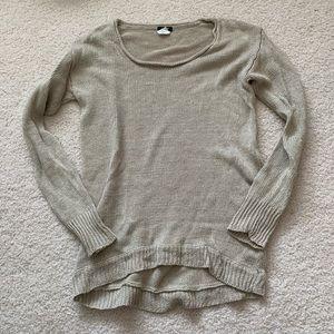 J crew cream linen sweater size small